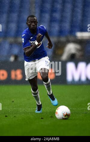 Genoa, Italy. 22 September, 2019: Omar Colley of UC Sampdoria in action during the Serie A football match between UC Sampdoria and Torino FC. Credit: Nicolò Campo/Alamy Live News - Stock Photo