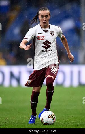Genoa, Italy. 22 September, 2019: Diego Laxalt of Torino FC in action during the Serie A football match between UC Sampdoria and Torino FC. Credit: Nicolò Campo/Alamy Live News - Stock Photo
