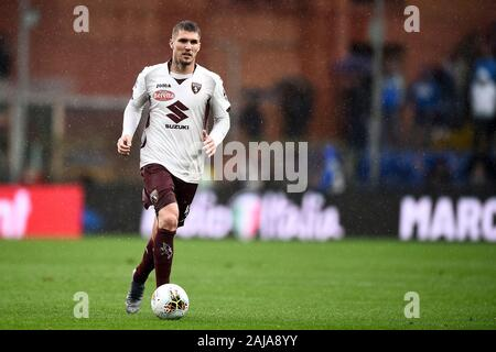 Genoa, Italy. 22 September, 2019: Lyanco of Torino FC in action during the Serie A football match between UC Sampdoria and Torino FC. Credit: Nicolò Campo/Alamy Live News - Stock Photo