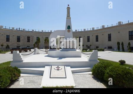 Sevastopol, Crimea, Russia - July 25, 2019: Monument on the mass grave of the defenders of the Konstantinovsky ravelin 1941-1942 in the hero city of S - Stock Photo