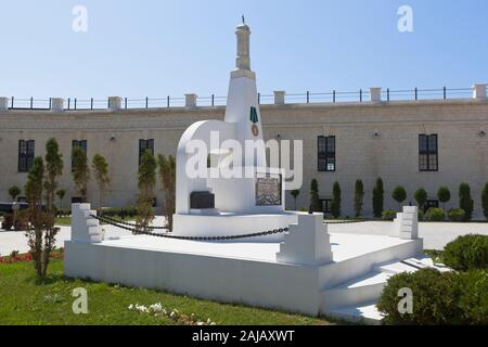 Sevastopol, Crimea, Russia - July 25, 2019: Monument on the mass grave of the defenders of the Konstantinovsky battery 1941-1942 in the hero city of S - Stock Photo
