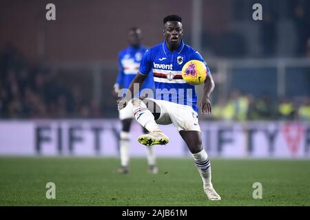 Genoa, Italy - 14 December, 2019: Ronaldo Vieira of UC Sampdoria in action during the Serie A football match between Genoa CFC and UC Sampdoria. UC Sampdoria won 1-0 over Genoa CFC. Credit: Nicolò Campo/Alamy Live News - Stock Photo