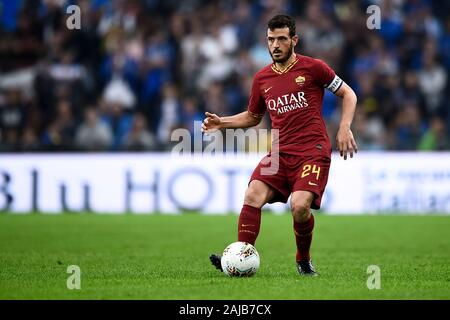Genoa, Italy - 20 October, 2019: Alessandro Florenzi of AS Roma in action during the Serie A football match between UC Sampdoria and AS Roma. The match ended in a 0-0 tie. Credit: Nicolò Campo/Alamy Live News - Stock Photo