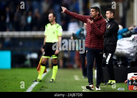Genoa, Italy - 20 October, 2019: Nuno Campos of AS Roma gestures during the Serie A football match between UC Sampdoria and AS Roma. The match ended in a 0-0 tie. Credit: Nicolò Campo/Alamy Live News - Stock Photo