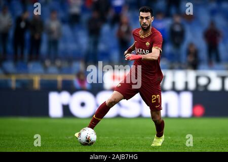 Genoa, Italy - 20 October, 2019: Javier Pastore of AS Roma in action during the Serie A football match between UC Sampdoria and AS Roma. The match ended in a 0-0 tie. Credit: Nicolò Campo/Alamy Live News - Stock Photo