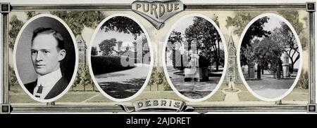 Purdue debris . Edith Ryan—Well now, I dont know. Page One Hundred and Seventy-Six. HENRY, ALBERT SHUMAN, War-saw, Ind. Red. Ph. C. Class Vice President 12Class. P. A. A. (1) (2). Pharma-ceutical Society (1) (2), ExecutiveBoard (1). Red is a native from Warsaw and isa true son of the Auld Sod. Henryis a left over from the 12 class andglad are we to get him. A lucrativeposition looked good to him last yearand he decided to graduate with theBig nine. Red is no longer alonein the world he, being another onewho decided that two can live betterthan one. Henry ranks high as astudent and his pleasant - Stock Photo