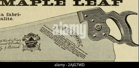 Le quincaillier (Juillet-Decembre 1905) . vvvv^-^/VVv^^»VVVVVvyyvvvVvVvvvvVV>V^Vw*VVVV^rtVVVVVVVvV^A^VV^Vvv^. Mar>L.f3oturees par The Maple Leaf Saw NA/orks,SHURLY & DIETRICH,Proppietaipes, Gait, Ont. NOS Scies s o n ttremp^es aumoyen dun pro-c^d^ secret. Nousgarantissons que cesont les Scies lesuiieux trenipt^es quiexistent au monde.Comme fini, elles nesont inf6rieures h,aucune autre et ellessont parfaiteraent ai-guis^es. Nous d e-luandons un essai quiprouve nos preten-tions. Satisfactiongarantie. Nous avons racont^ - Stock Photo