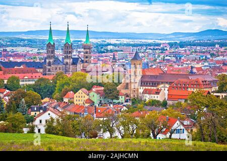 Bamberg. Panoramic view of Bamberg landscape and architecture, Upper Franconia, Bavaria region of Germany - Stock Photo