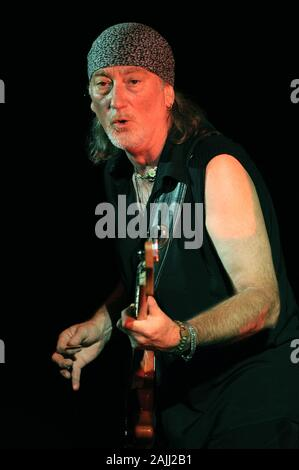 Milan Italy ,15 July 2008, Live concert of Deep Purple at the Smeraldo Theater: Deep Purple  bassist Roger Glover during the concert - Stock Photo