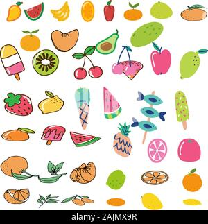 FRUIT FRUITS FROM MANY VITAMINS - Stock Photo