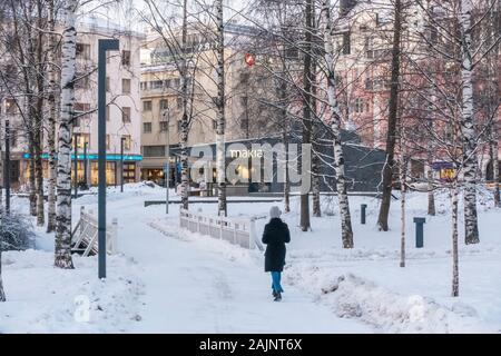 Park Café Makia in Oulu Finland - Stock Photo
