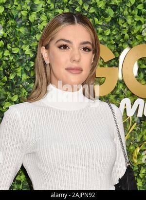 BEVERLY HILLS, CA - JANUARY 04: Sistine Stallone attends the 7th Annual Gold Meets Golden at Virginia Robinson Gardens and Estate on January 04, 2020 in Los Angeles, California. - Stock Photo