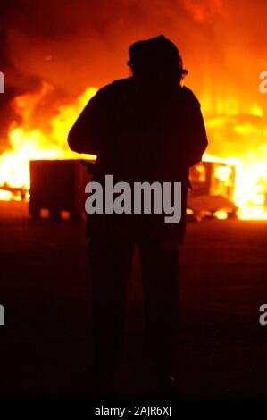 fire fighting, Australian bushfire, wild fire 2020 - Stock Photo