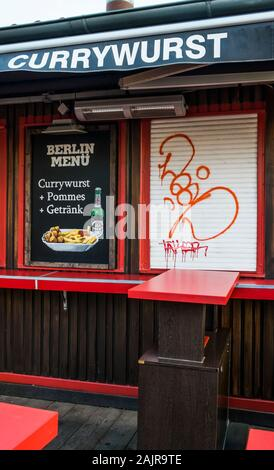 berlin menu, currywurst - Stock Photo