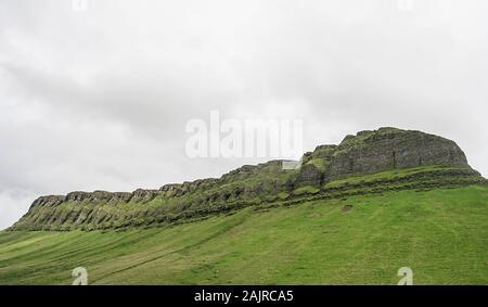 Ben Bulben, a large rock formation in County Sligo, Ireland - Stock Photo
