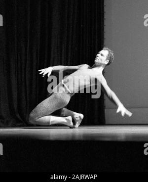 Merce Cunningham in New York City 1957, most likely these images show Cunningham performing The Changeling, which places the date as November 30, 1957. - Stock Photo