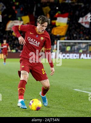 Rome, Italy, 5th January, 2020. Roma Nicolo Zaniolo in action during the Serie A soccer match between Roma and Torino at the Olympic Stadium. Credit Riccardo De Luca - UPDATE IMAGES / Alamy Live News - Stock Photo