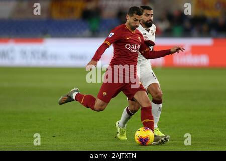 Rome, Italy. 05th Jan, 2020. Henrikh Mkhitaryan (Roma) in action during the Serie A match between AS Roma and Torino FC at Stadio Olimpico on January 5, 2020 in Rome, Italy. (Photo by Giuseppe Fama/Pacific Press) Credit: Pacific Press Agency/Alamy Live News - Stock Photo