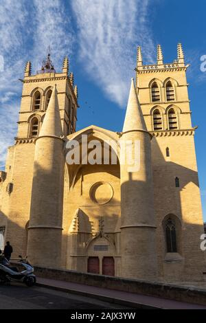 Cathedral of Saint Peter Pierre in Montpellier, France - Stock Photo