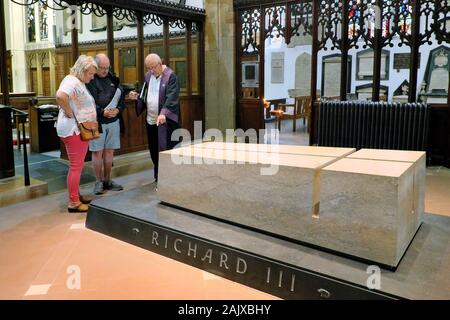King Richard III grave & tomb, Leicester Cathedral, Leicester, Leicestershire, England, UK, Europe - Stock Photo