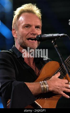 Verona Italy 09/20/2003, Arena : Sting in concert during the 'Festivalbar 2003' musical event. - Stock Photo