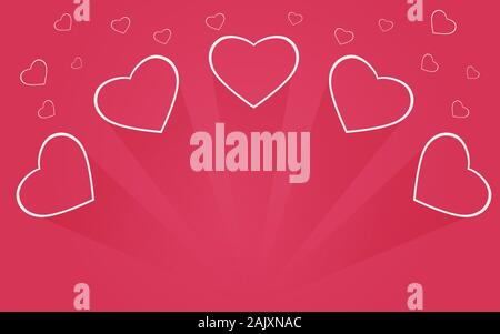 Hearth illustration background, mother day And Valentine day - Stock Photo
