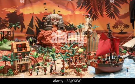PLAYMOBIL EXHIBITION IN VERSAILLES , HOW TO SHOW THE HISTORY OF THE WORLD - Stock Photo