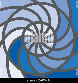 Winter snowflake star halftone round shapes pattern - Stock Photo