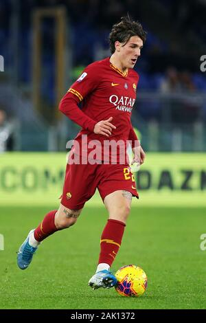 Nicolo' Zaniolo of Roma in action during the Italian championship Serie A football match between AS Roma and Torino FC on January 5, 2020 at Stadio Olimpico in Rome, Italy - Photo Federico Proietti/ESPA-Images - Stock Photo