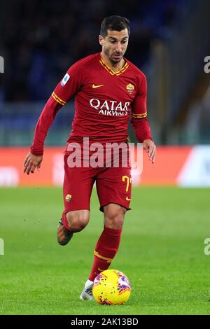 Henrikh Mkhitaryan of Roma in action during the Italian championship Serie A football match between AS Roma and Torino FC on January 5, 2020 at Stadio Olimpico in Rome, Italy - Photo Federico Proietti/ESPA-Images - Stock Photo
