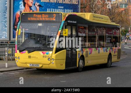 Free Bus 2 At Manchester England 2019 - Stock Photo