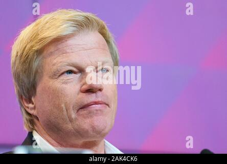 Munich, Germany. 07th Jan, 2020. Football FC Bayern Munich O.Kahn, Munich Jan 07, 2020. FC Bayern Munich presents Oliver Kahn as new member of the board, with Herbert HAINER, FCB president and Ex CEO Adidas FC BAYERN MUNICH 1.German Soccer League, Munich, December 07, 2020 Season 2019/2020, match day, FCB, München Credit: Peter Schatz/Alamy Live News - Stock Photo