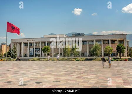 National Opera and Ballet Theater in Tirana, Albania - Stock Photo