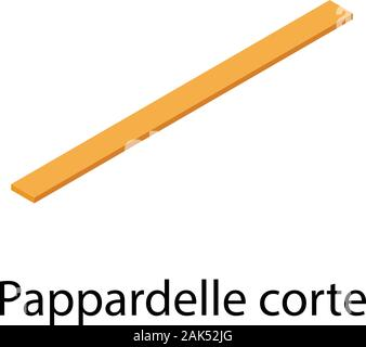 Pappardelle corte icon, isometric style - Stock Photo
