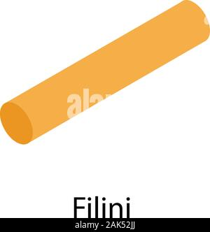 Filini pasta icon, isometric style - Stock Photo