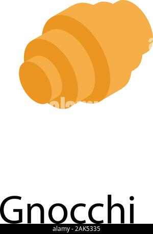 Gnocchi pasta icon, isometric style - Stock Photo