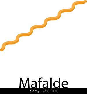 Mafalde pasta icon, isometric style - Stock Photo