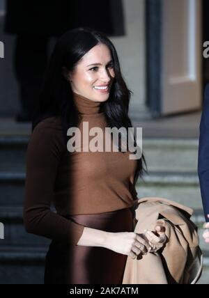 London, UK. 7th Jan 2020. Meghan Markle (Duchess of Sussex) visit Canada House, London, UK, on January 7, 2020. Credit: Paul Marriott/Alamy Live News Stock Photo
