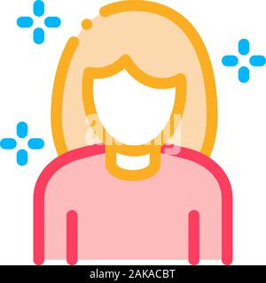 Woman Personal Care Icon Vector Outline Illustration - Stock Photo