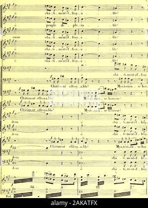 La prise de Troie : poème lyrique en deux actes et trois tableaux . - Stock Photo