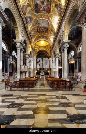 Italy, Liguria, Genoa, the historical centre, Piazza delle Vigne, Chiesa di Santa Maria delle Vigne (Santa Maria delle Vigne church) - Stock Photo
