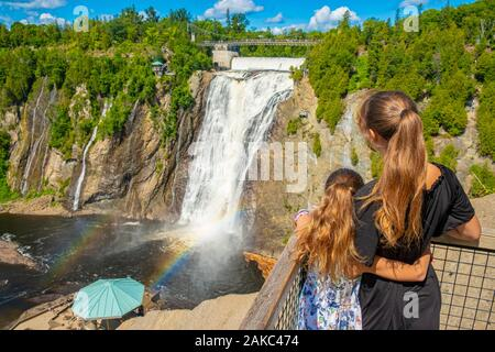 Canada, Quebec province, Municipality of Boischatel, Montmorency Falls Park - Stock Photo