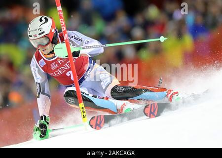 Madonna di Campiglio, Italy. 8th Jan 2020. FIS Alpine Ski World Cup Men's Night Slalom in Madonna di Campiglio, Italy on January 8, 2020, Henrik Kristoffersen (NOR) - Editorial Use Credit: Action Plus Sports Images/Alamy Live News - Stock Photo