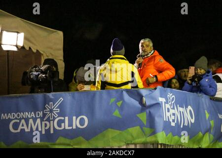 Madonna Di Campiglio, Italy. 08th Jan, 2020. maurizio arrivabene during FIS AUDI World Cup - 3Tre - Night Men Slalom, Ski in Madonna di Campiglio, Italy, January 08 2020 Credit: Independent Photo Agency/Alamy Live News - Stock Photo