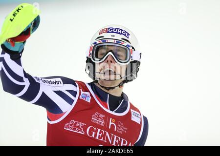 Madonna di Campiglio, Italy. 8th January, 2020. FIS Alpine Ski World Cup Men's Night Slalom in Madonna di Campiglio, Italy on January 8, 2020, Dave Ryding (GBR) Photo: Pierre Teyssot/Espa-Images Credit: European Sports Photographic Agency/Alamy Live News - Stock Photo