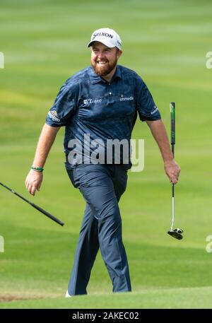 FANLING,HONG KONG SAR,CHINA: JANUARY 9th 2020. Hong Kong Open Golf Round . Shane Lowry on the 10th green during the opening round of the Hong Kong Open.Alamy Live news/Jayne Russell - Stock Photo