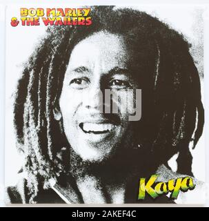 The cover of Kaya,  1978 album by Bob Marley & The Wailers on Island - Stock Photo