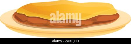 Greek cuisine icon. Cartoon of greek cuisine vector icon for web design isolated on white background - Stock Photo