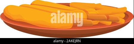 Greek bakery icon. Cartoon of greek bakery vector icon for web design isolated on white background - Stock Photo
