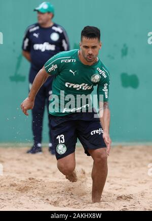 SÃO PAULO, SP - 09.01.2020: TREINO DO PALMEIRAS - SE Palmeiras player Luan during training at the Football Academy. (Photo: Cesar Greco/Fotoarena) - Stock Photo